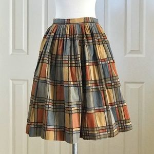 "VINTAGE Cotton Autumn Color Skirt - 23"" Waist"